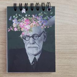 Bloco de Anotações As Flores de Freud