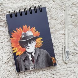 Bloco de Anotações Freud e o Girassol