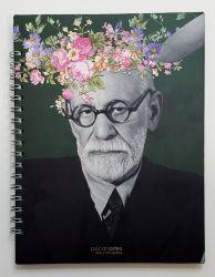 Caderno Universitário As Flores de Freud