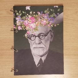 Caderno Argolado As Flores de Freud