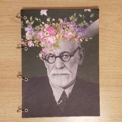 Caderno Argolado As Flores de Freud
