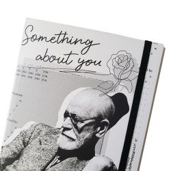 Estilo Moleskine Freud em P&B