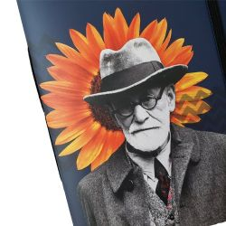 Estilo Moleskine Freud e o Girassol