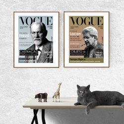 Pôster Vogue Freud e Lacan - Duplo