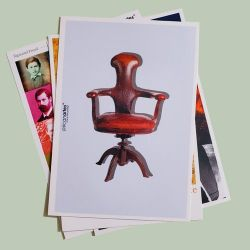 Cartão postal Cadeira Freud