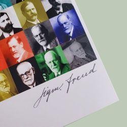 Cartão postal Freud enquadrado